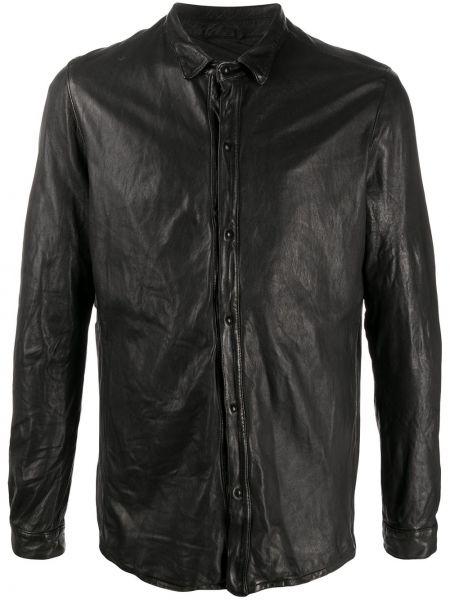 Czarna klasyczna koszula bawełniana z długimi rękawami Giorgio Brato
