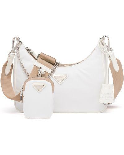 Белая сумка из полиуретана Prada