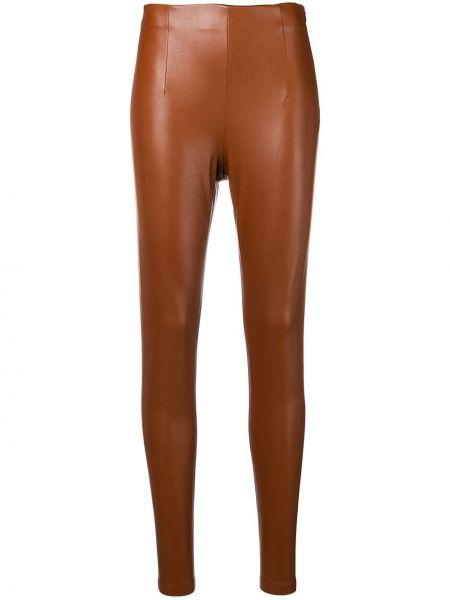 Облегающие коричневые кожаные леггинсы Dorothee Schumacher