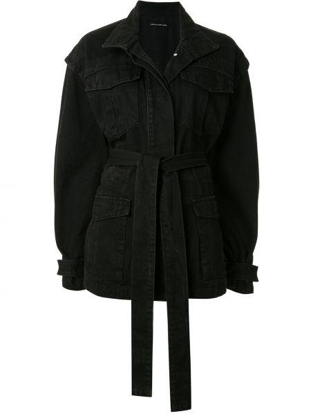 Черная джинсовая куртка свободного кроя на пуговицах Camilla And Marc