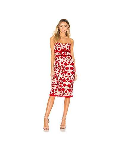 Платье миди с вышивкой с бахромой Lovers + Friends