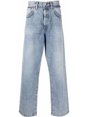 Klasyczne czarne jeansy z paskiem Acne Studios