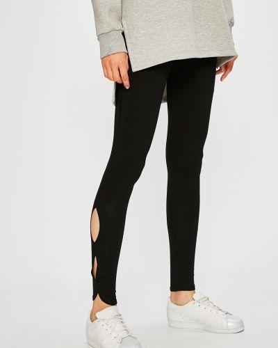 Облегающие черные брюки на резинке Miss Poem