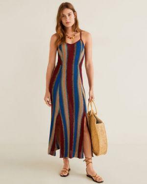 Платье миди облегающее в полоску Mango