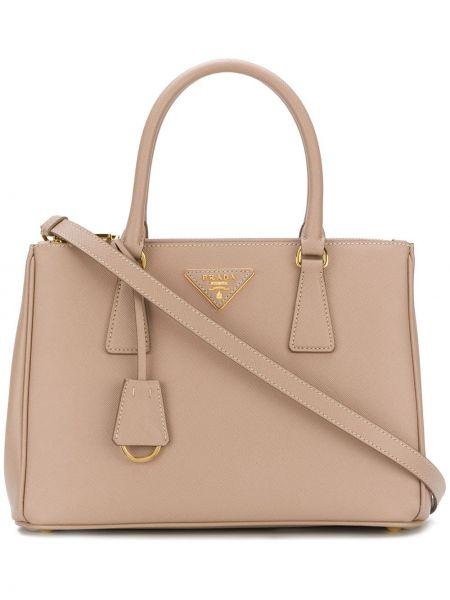 Кожаная сумка-тоут Prada