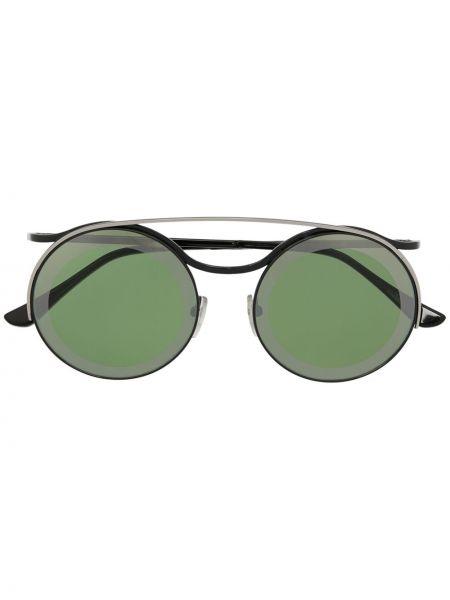 Прямые черные солнцезащитные очки круглые металлические Marni Eyewear