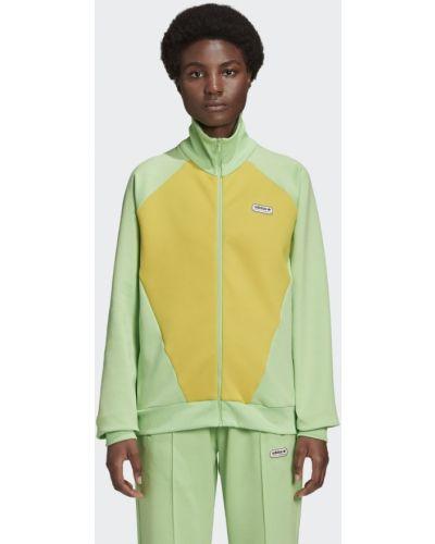 Зеленая олимпийка Adidas