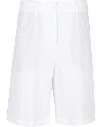 Białe szorty eleganckie srebrne Aspesi