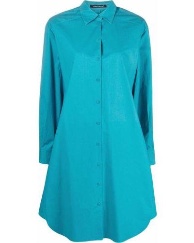Синее платье макси оверсайз с воротником Luisa Cerano
