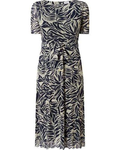 Sukienka rozkloszowana krótki rękaw - czarna S.oliver Black Label