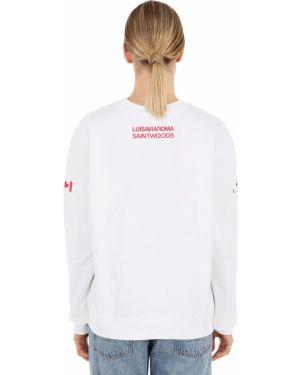 Prążkowana biała bluza Saintwoods