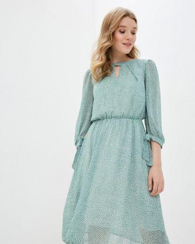 Прямое зеленое платье Am One