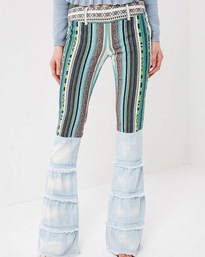 Голубые расклешенные брюки Met