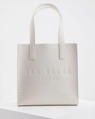 Кожаная сумка шоппер - бежевая Ted Baker London