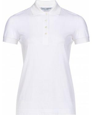 Белое поло Dolce & Gabbana