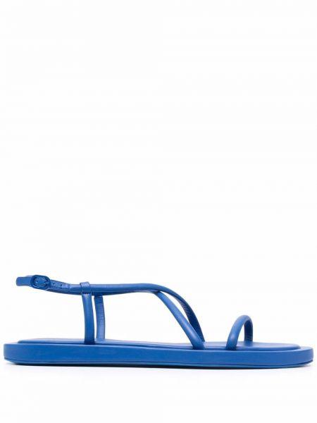 Sandały skórzane - niebieskie Alexander Mcqueen