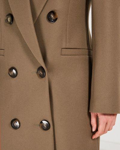 Пальто бежевое шерстяное Jm Studio
