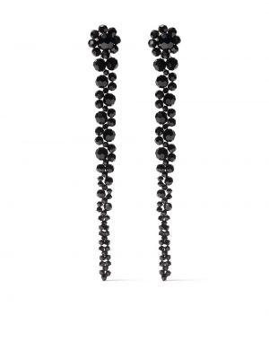 Черные серьги с бисером Simone Rocha