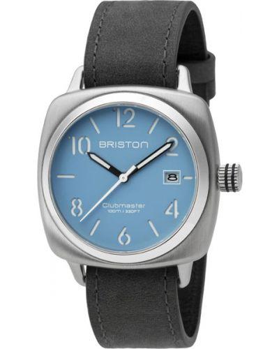 Часы водонепроницаемые с подсветкой с кожаным ремешком Briston