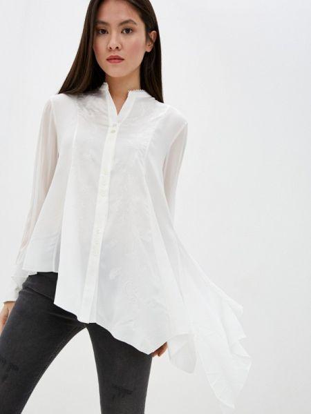 Белая блузка с длинным рукавом High