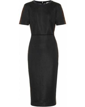 Платье миди со вставками модерн Fendi