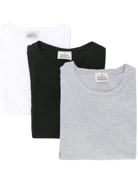 Koszula krótkie z krótkim rękawem prosto czarna Vivienne Westwood