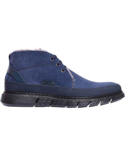 Синие замшевые ботинки Fabi