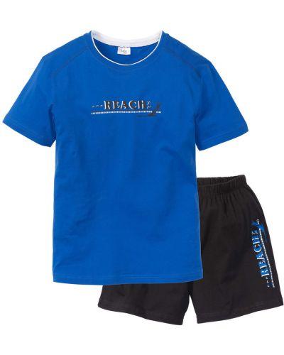 Пижама голубой черный Bonprix