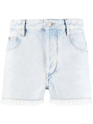 Синие хлопковые джинсовые шорты на молнии Isabel Marant étoile