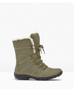 Теплые зимние ботинки хаки Bonprix