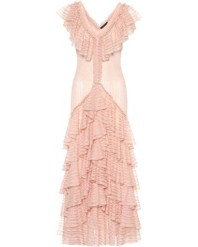 Платье розовое шелковое Alexander Mcqueen