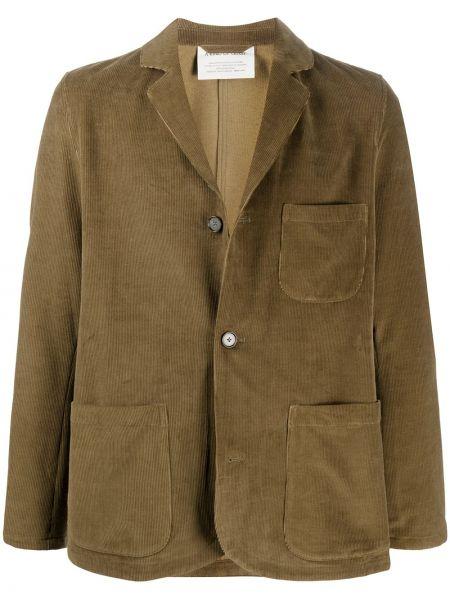 Коричневый пиджак на пуговицах с лацканами с карманами A Kind Of Guise