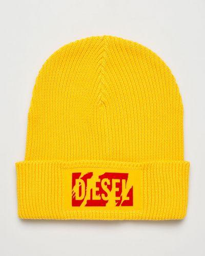 Зимняя шапка с отворотом желтый Diesel