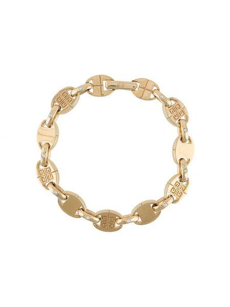 Золотистый желтый золотой браслет позолоченный Givenchy Pre-owned