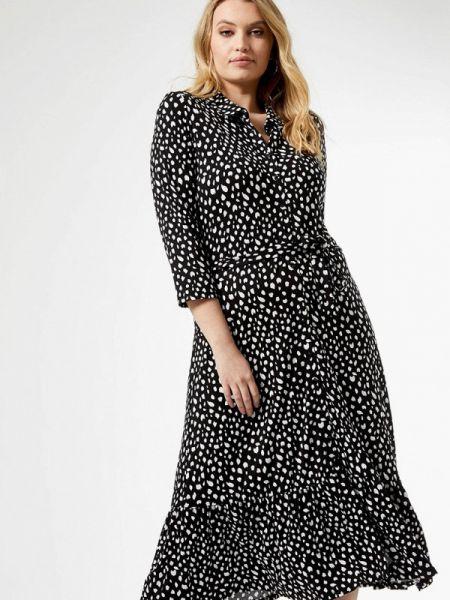 Платье платье-рубашка черное Dorothy Perkins Curve