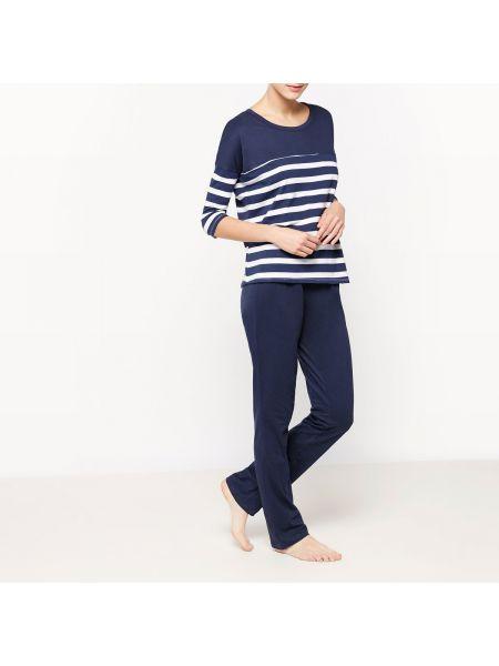 Пижама с брюками свободная в полоску La Redoute Collections