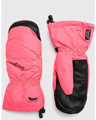 Кожаные перчатки тонкие розовый Viking