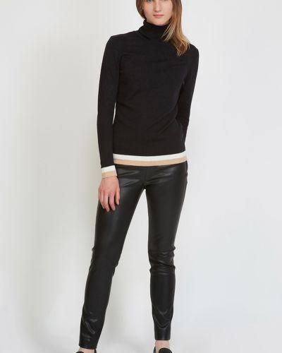 Черные брюки из искусственной кожи Vassa&co