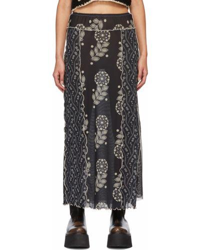 Черная юбка длинная Anna Sui
