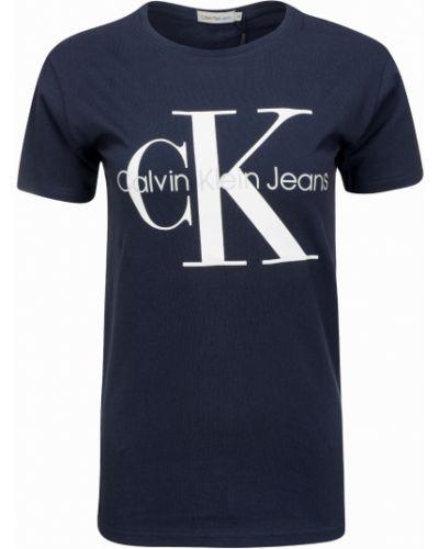 Bawełna bawełna koszula jeansowa okrągły Calvin Klein Jeans