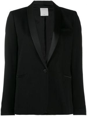 Блейзер длинный - черный Sandro Paris