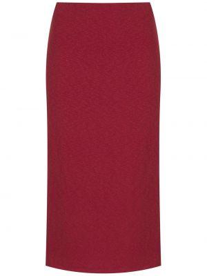 Хлопковая юбка миди - красная Osklen