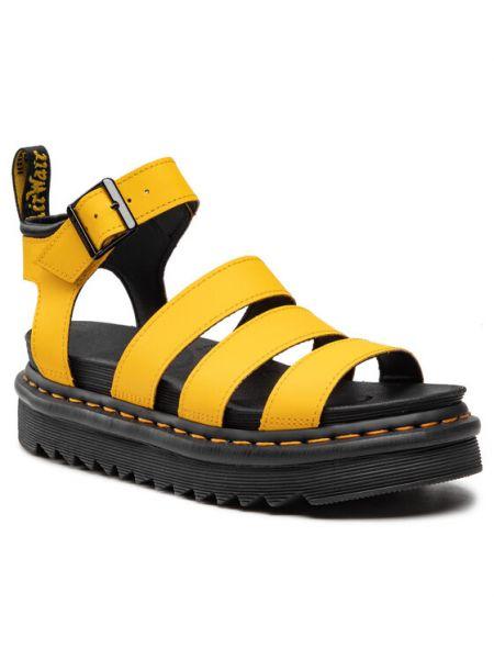 Sandały - żółte Dr. Martens