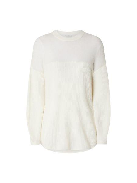 Prążkowany biały sweter wełniany Riani