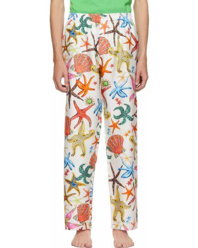 Piżama z jedwabiu - biała Versace Underwear
