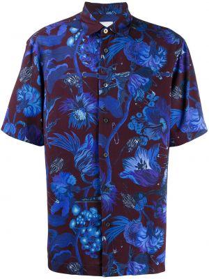 Koszula krótkie z krótkim rękawem klasyczna karmazynowy Paul Smith