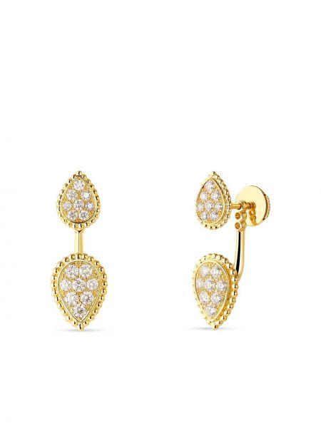 Żółte złote kolczyki ze złota z diamentem Boucheron