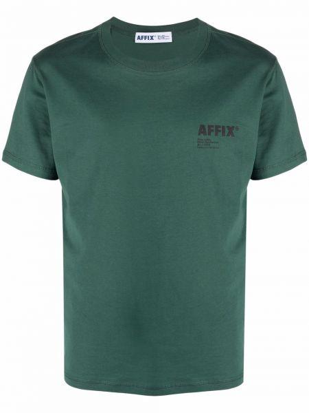 Zielony t-shirt bawełniany krótki rękaw Affix