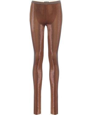 Pomarańczowe legginsy z wiskozy Rick Owens