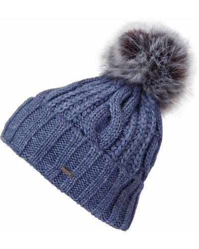 Голубая шапка шерстяная Finn Flare